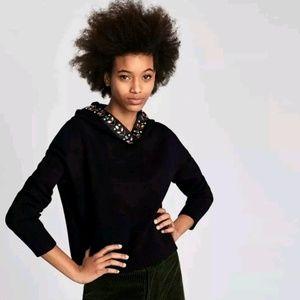 Stunning Zara Jewel Embellished Cropped Hoodie